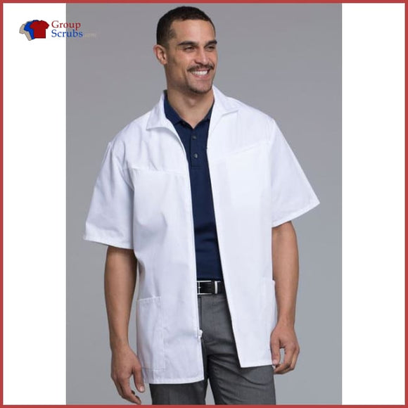 Med-Man 1373 Mens Zip Front Jacket White / 2Xl Mens