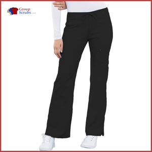 Cherokee Luxe 21100P Low Rise Flare Leg Drawstring Cargo Pant Womens