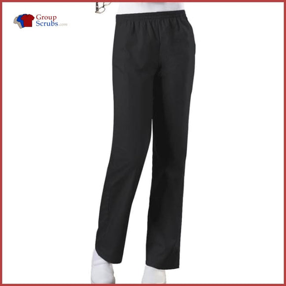 Cherokee Workwear Originals 4001P Natural Rise Tapered Leg Pull-On Pant Black / 2Xl Womens