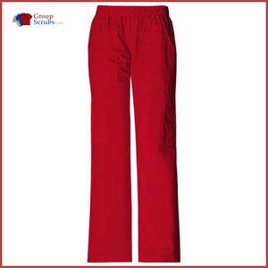 Cherokee Workwear Core Stretch 4005P Mid Rise Pull-On Cargo Pant Red / S Womens