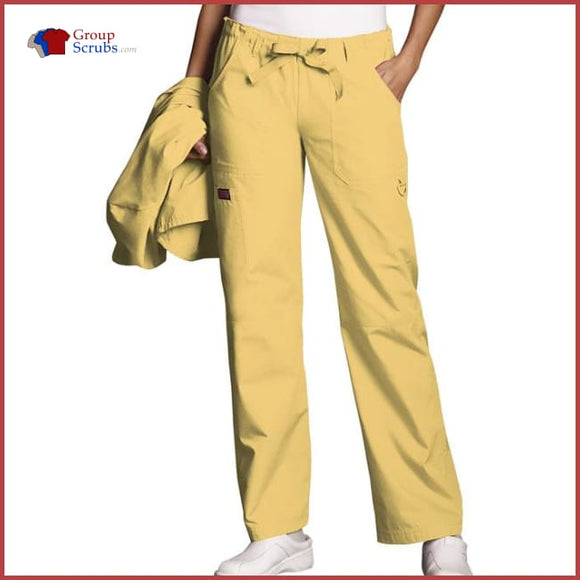 Cherokee Workwear Originals 4020 Low Rise Drawstring Cargo Pant Dandelion / 2Xl Womens