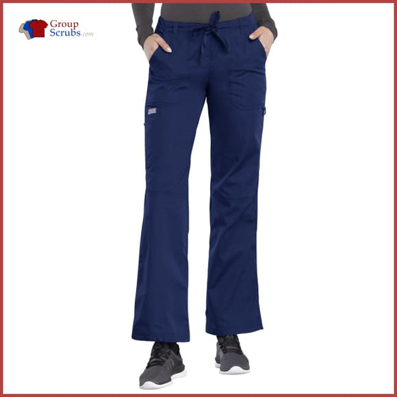 Cherokee Workwear Originals 4020 Low Rise Drawstring Cargo Pant Navy / 2XL Womens