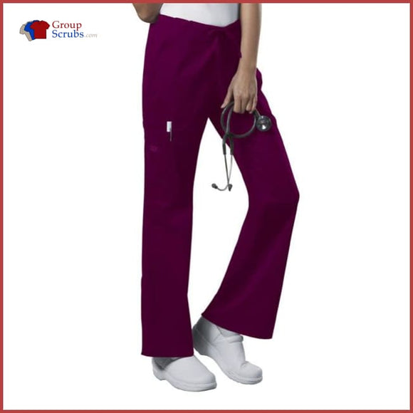 Cherokee Workwear Core Stretch 4044 Mid Rise Drawstring Cargo Pant Wine / 2Xl Womens