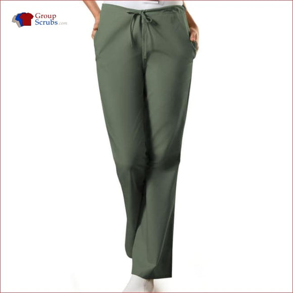 Cherokee Workwear Originals 4101T Natural Rise Flare Leg Drawstring Pant Olive / 2Xl Womens
