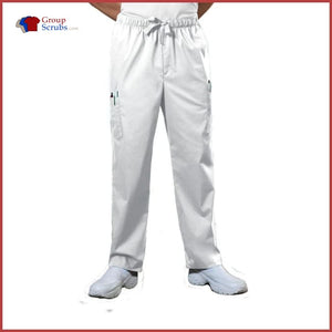 Cherokee Workwear Core Stretch 4243 Mens Drawstring Cargo Pant White / 3Xl