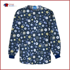 Scrub Hq 4350C Snap Front Warm-Up Jacket Dots Wonderful / 2Xl Womens
