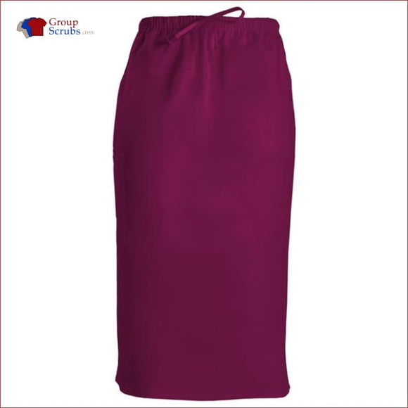 Cherokee Workwear Originals 4509 30 Drawstring Skirt Wine / 2Xl Womens