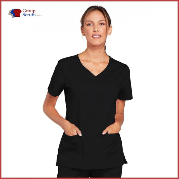 Cherokee Workwear Core Stretch 4727 V-Neck Top Black / 2XL Womens