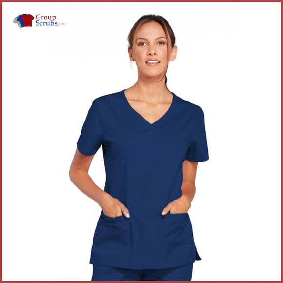 Cherokee Workwear Core Stretch 4727 V-Neck Top Navy / 2XL Womens