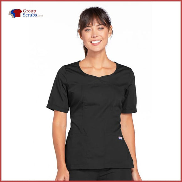 Cherokee Workwear Originals 4746 V-Neck Top Black / 2XL Womens