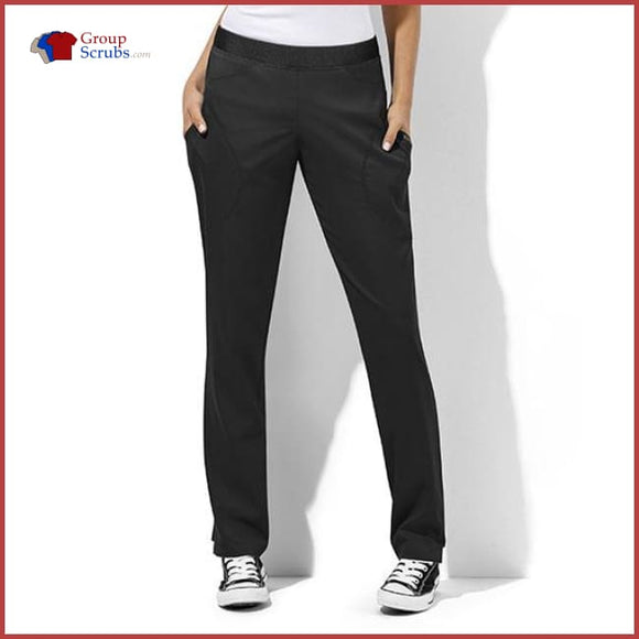 Wonderwink Wondertech 5113 6-Pocket Straight Leg Pant Black / L Womens