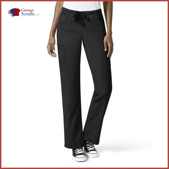 Wonderwink Wondertech 5313 Full Elastic Straight Leg Pant Black / 2Xl Womens