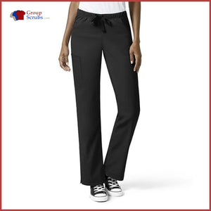 Wonderwink Wondertech 5313T Full Elastic Straight Leg Pant Black / 2Xl Womens