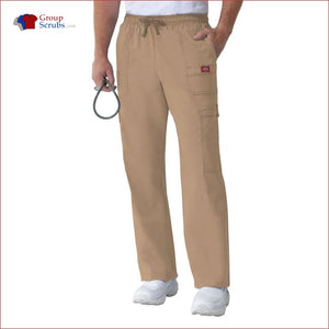 Dickies Gen Flex 81003 Mens Drawstring Cargo Pant Dark Khaki / 3XL Mens
