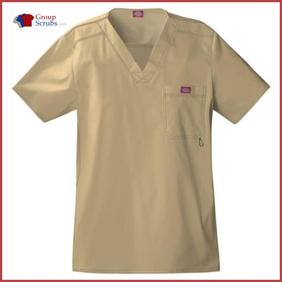 Dickies Gen Flex 81722 Mens V-Neck Top Dark Khaki / 3XL Mens