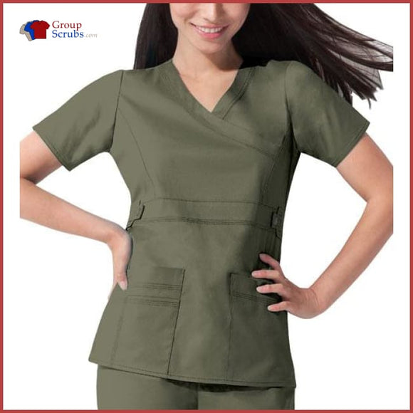 Dickies Gen Flex 817355 Mock Wrap Top Olive / XS Womens