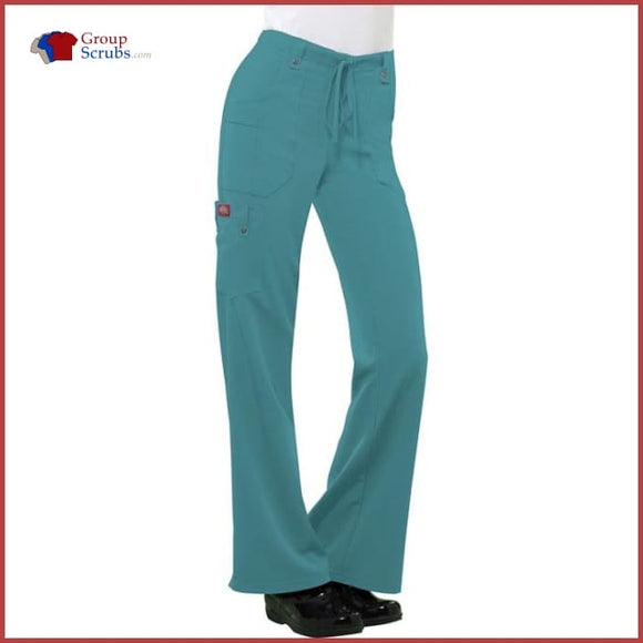 Dickies Xtreme Stretch 82011 Mid Rise Drawstring Cargo Pant Dickies Teal / 2XL Womens
