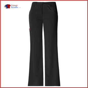 Dickies Xtreme Stretch 82011P Mid Rise Drawstring Cargo Pant Black / 2XL Womens