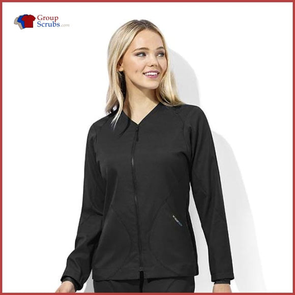 Wonderwink Wondertech 8213 Warm-Up Jacket Black / 2Xl Womens