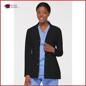 Dickies Xtreme Stretch 82400 28 Snap Front Lab Coat Black / 2XL Womens