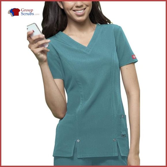 Dickies Xtreme Stretch 82851 V-Neck Top Dickies Teal / 2XL Womens