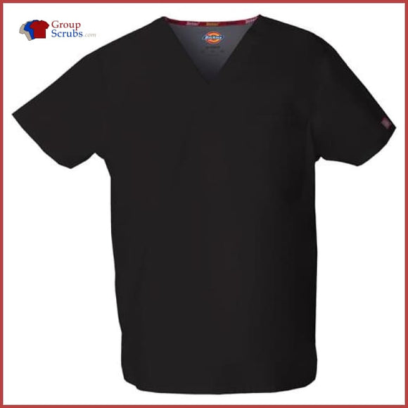 Dickies EDS Signature 83706 Unisex V-Neck Top Black / 2XL Unisex
