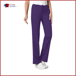 Cherokee Luxe 1066 Low Rise Straight Leg Drawstring Pant Nu-Grape / Xs Womens