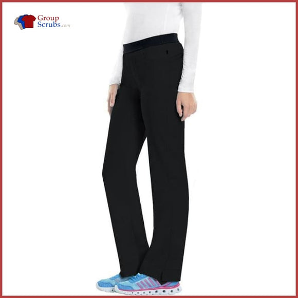 Cherokee Infinity 1124A Low Rise Slim Pull-On Pant Black / 2Xl Womens