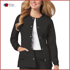 Cherokee Luxe 1330 Snap Front Warm-Up Jacket Womens
