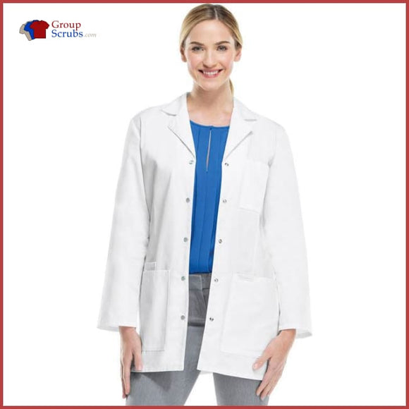Cherokee Professional Whites 1369 32 Snap Front Lab Coat White / 2Xl Womens
