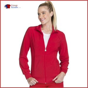 Cherokee Infinity 2391A Zip Front Warm-Up Jacket Red / 2Xl Womens