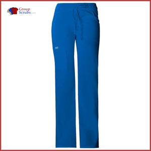 Cherokee Workwear Core Stretch 24001P Low Rise Drawstring Cargo Pant Royal / S Womens