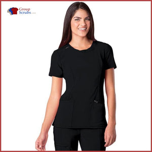 Cherokee Infinity 2624A Round Neck Top Black / 2Xl Womens