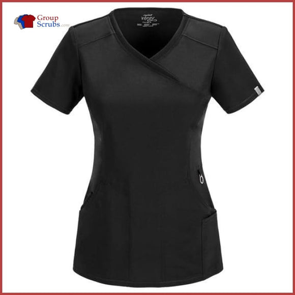 Cherokee Infinity 2625A Mock Wrap Top Black / 2Xl Womens