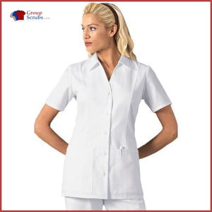 Cherokee Professional Whites 2879 Button Front Top White / 2Xl Womens