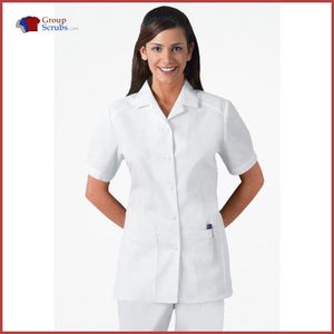 Cherokee Professional Whites 2880 Button Front Top White / 2Xl Womens