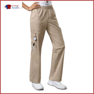 Cherokee Workwear Core Stretch 4005 Mid Rise Pull-On Cargo Pant Khaki / 2Xl Womens