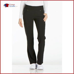 Cherokee Iflex Ck002P Mid Rise Straight Leg Pull-On Pant Black / 2Xl Womens