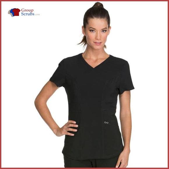 Cherokee Infinity Ck623A V-Neck Top Black / 2Xl Womens
