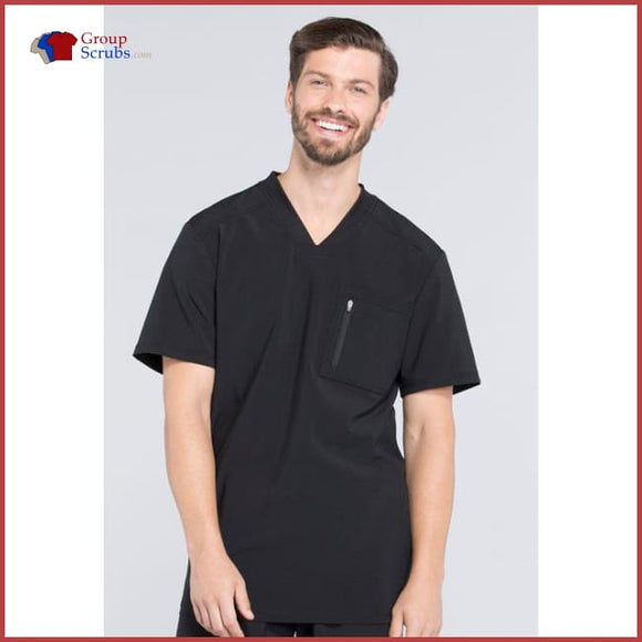 Cherokee Infinity Ck910A Mens V-Neck Top Black / 2Xl