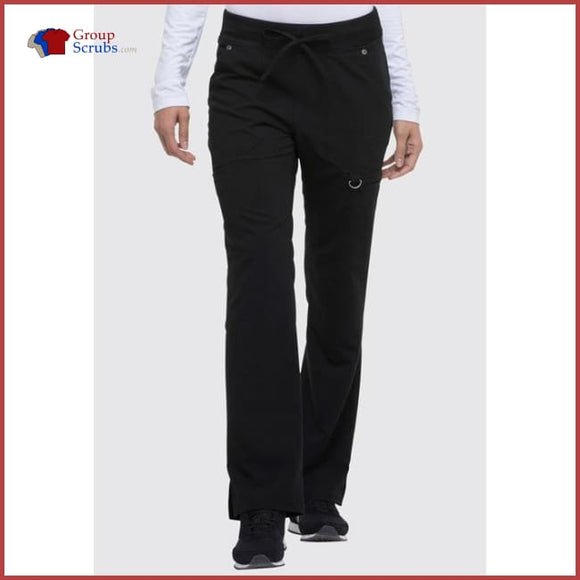 Dickies Xtreme Stretch Dk020P Mid Rise Rib-Knit Waistband Pant Black / 2Xl Womens