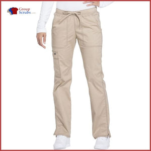 Dickies Gen Flex Dk100P Low Rise Straight Leg Drawstring Pant Womens