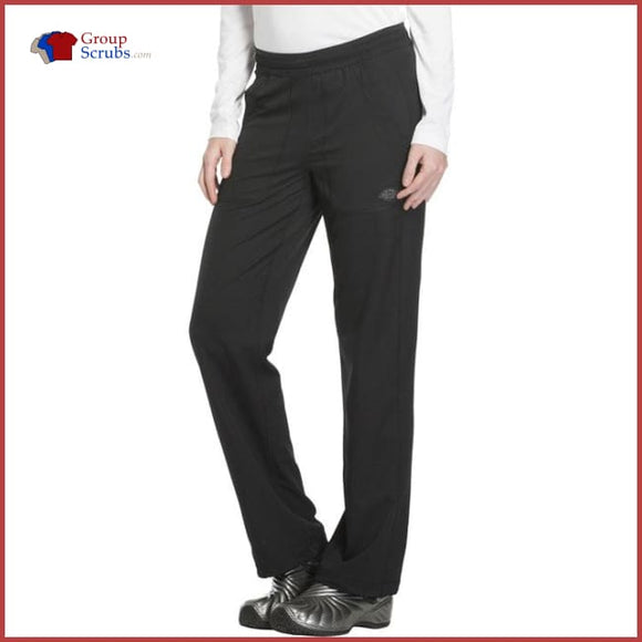 Dickies Dynamix Dk120P Mid Rise Straight Leg Pull-On Pant Black / 2Xl Womens