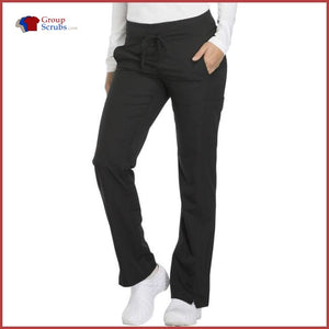 Dickies Dynamix Dk130P Mid Rise Straight Leg Drawstring Pant Black / 2Xl Womens