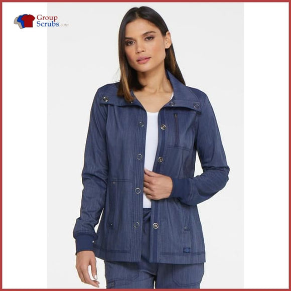 Dickies Advance Dk325 Snap Front Jacket Womens