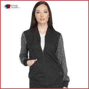 Dickies Dynamix Dk340 Zip Front Warm-Up Jacket Womens