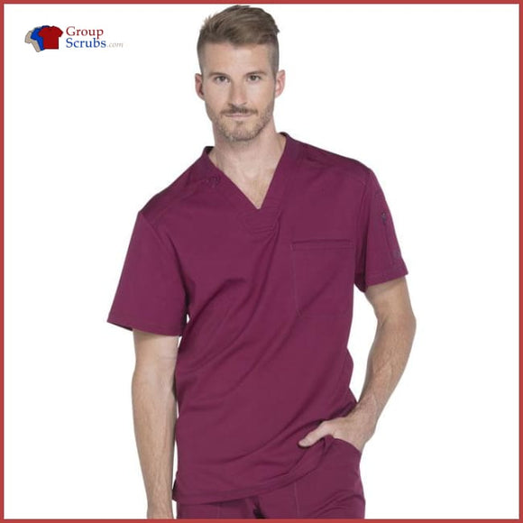Dickies Dynamix Dk610 Mens V-Neck Top Wine / 3Xl Mens