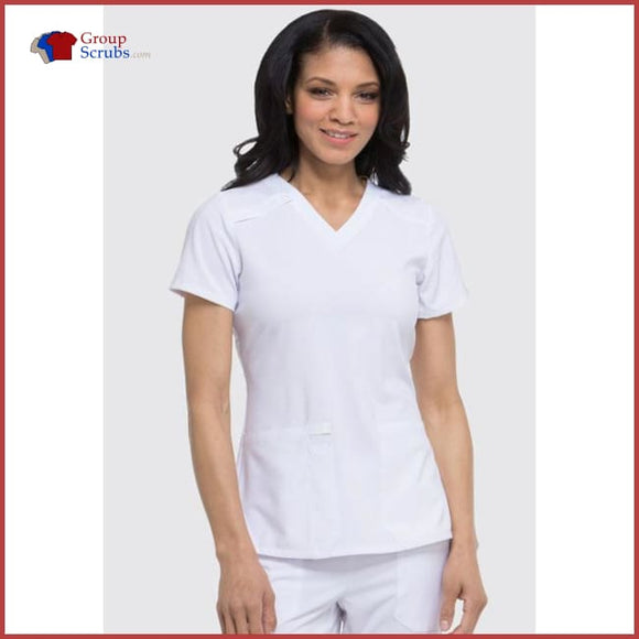 Dickies Eds Essentials Dk615 V-Neck Top White / 2Xl Womens