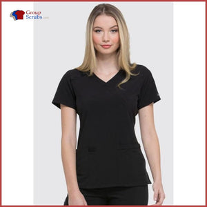 Dickies Eds Essentials Dk625 Mock Wrap Top Womens