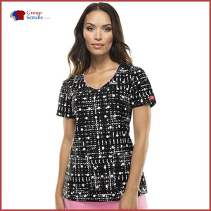 Dickies Dk701X2 V-Neck Top Dot It All / Xs Womens